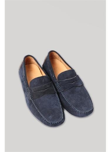 Lufian Stroll Süet Loafer Ayakkabı Haki Lacivert